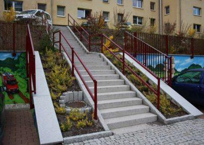 Treppengeländer aus Rundrohr als Systemgeländer